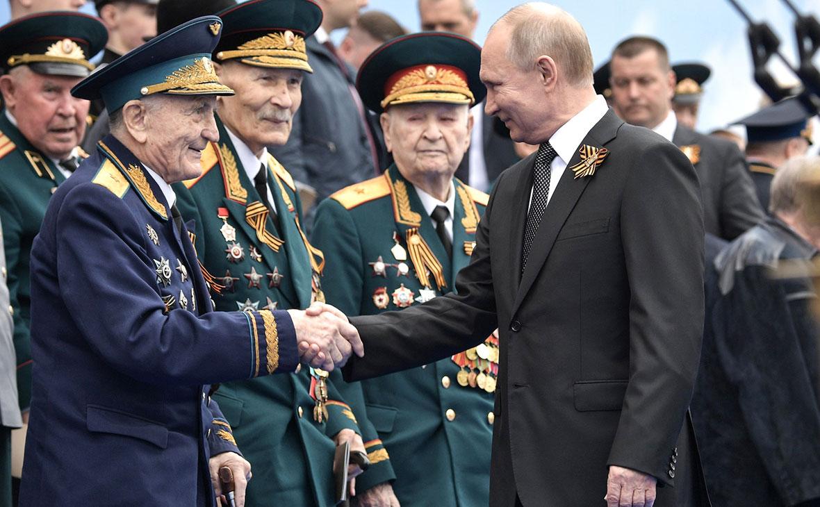 Владимир Путин светеранами Великой Отечественной войны