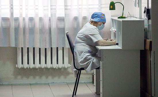 Городская клиническая больница в Новосибирске, март 2016 года