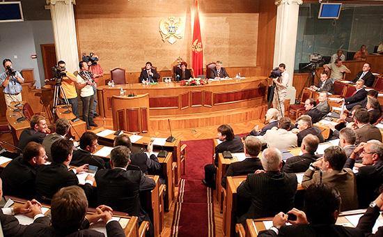 Заседание парламента Черногории