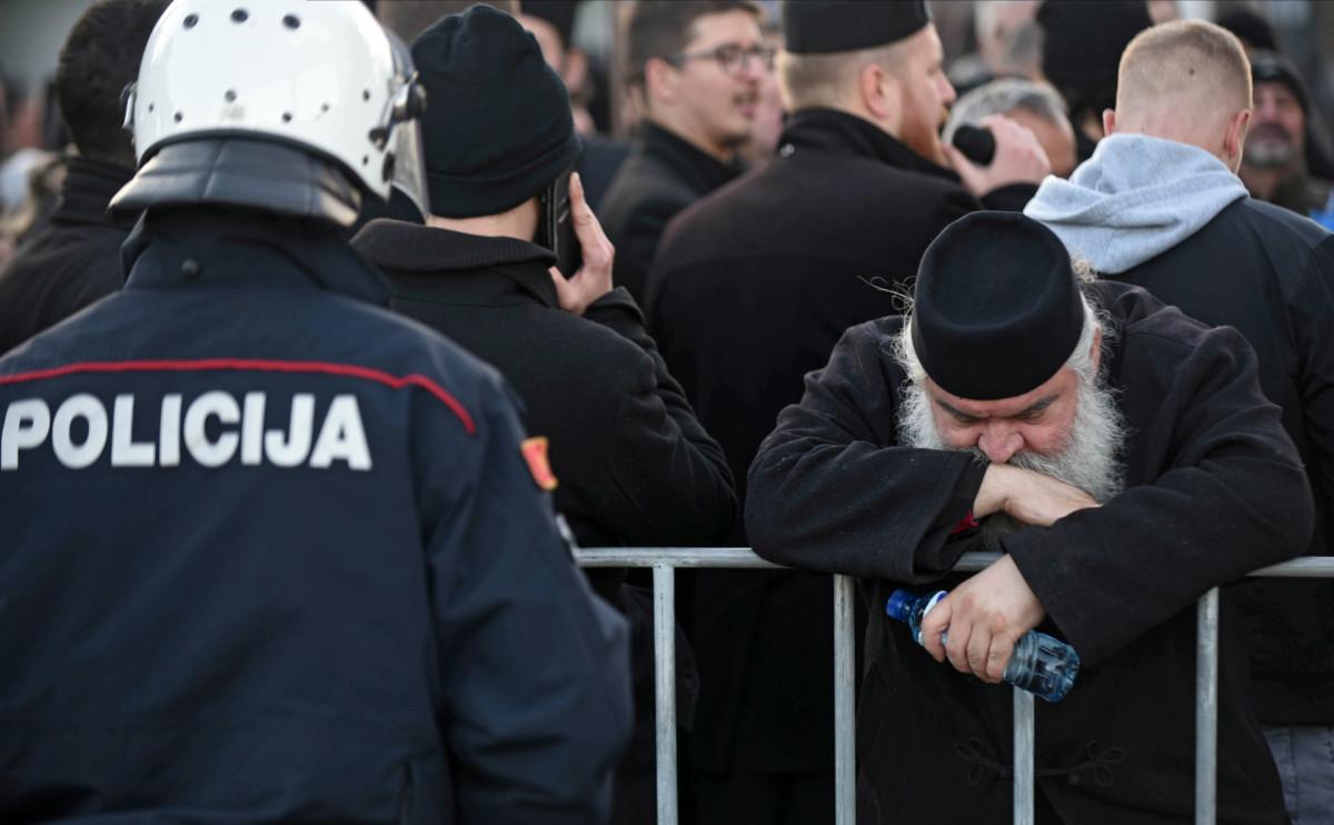 Акция против закона о свободе вероисповедания в Подгорице