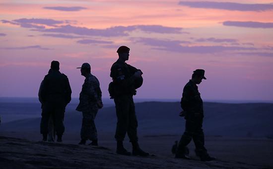 Российские солдаты вовремя учений. Архивное фото