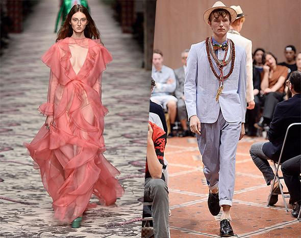 Фото: пресс-материалы Junya Watanabe; Gucci; Walter Van Beirendonck; Oscar de la Renta; gettyimages.com