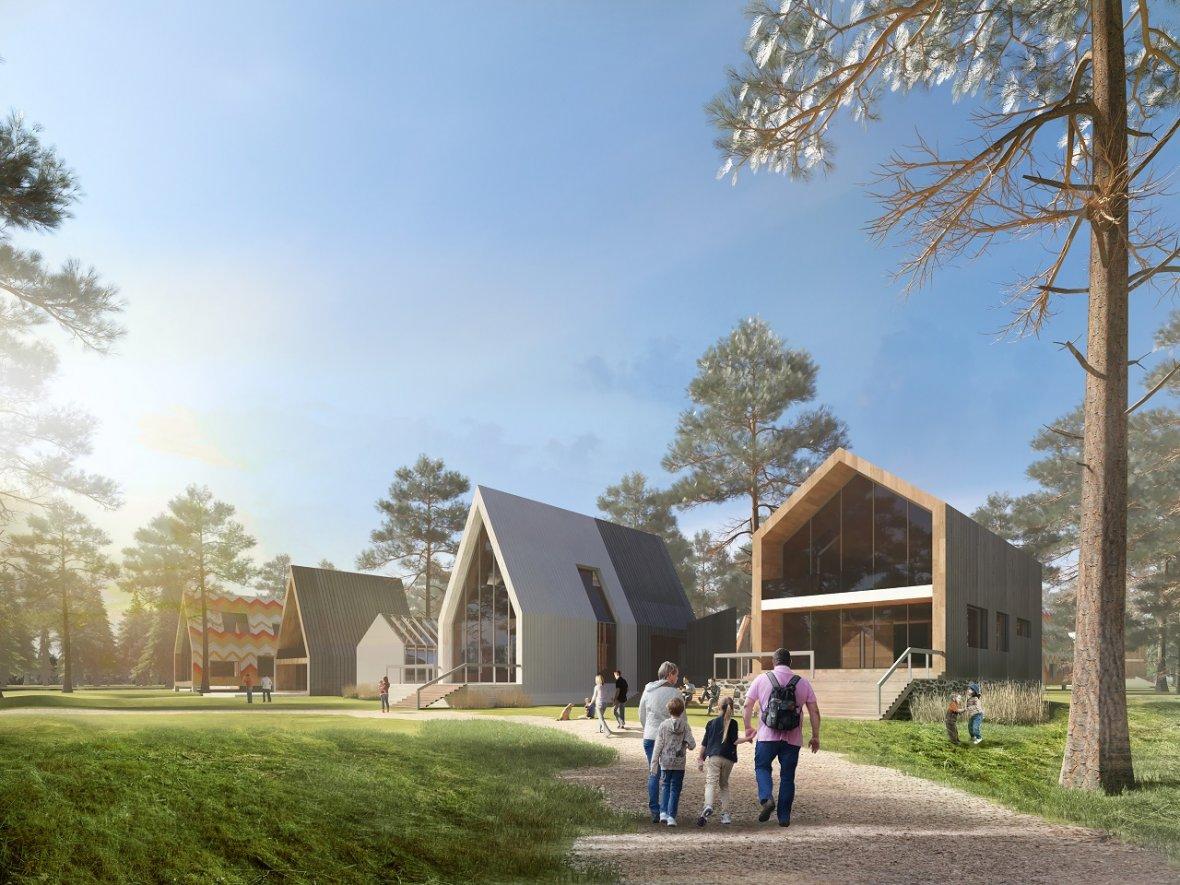 Дизайн-проект застройки экопоселка«Два леса», который должен появиться в Кировском районе Казани