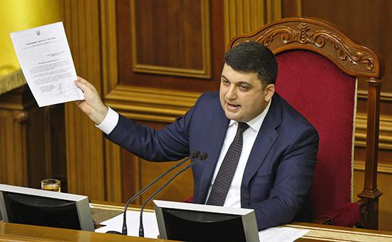 Спикер Верховной рады Владимир Гройсман