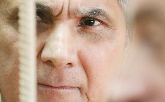 Захарий Калашов, известный также как Шакро Молодой, во время рассмотрения ходатайства о продлении срока ареста в Тверском суде