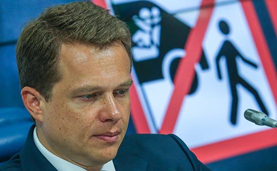 Руководитель департамента транспорта иразвития дорожно-транспортной инфраструктуры Москвы Максим Ликсутов