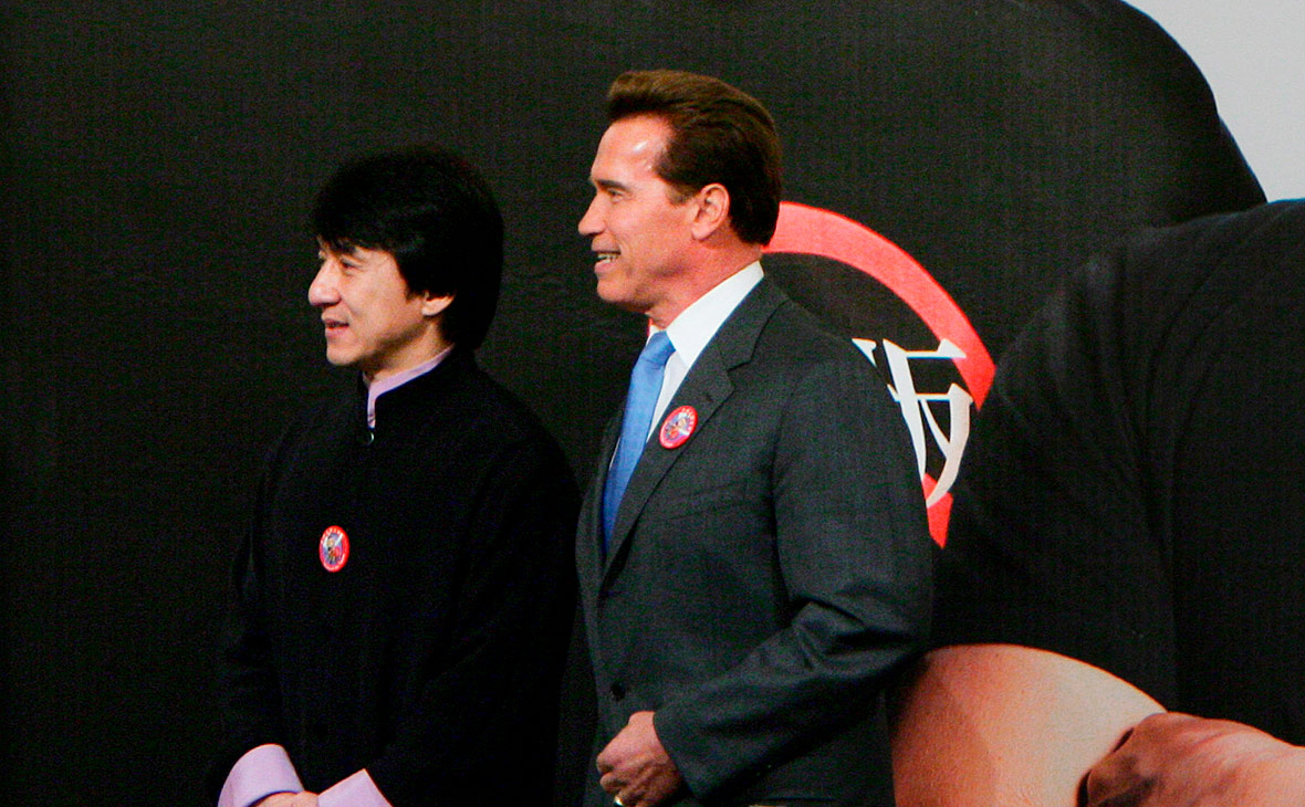 Джеки Чан (слева) и Арнольд Шварценеггер