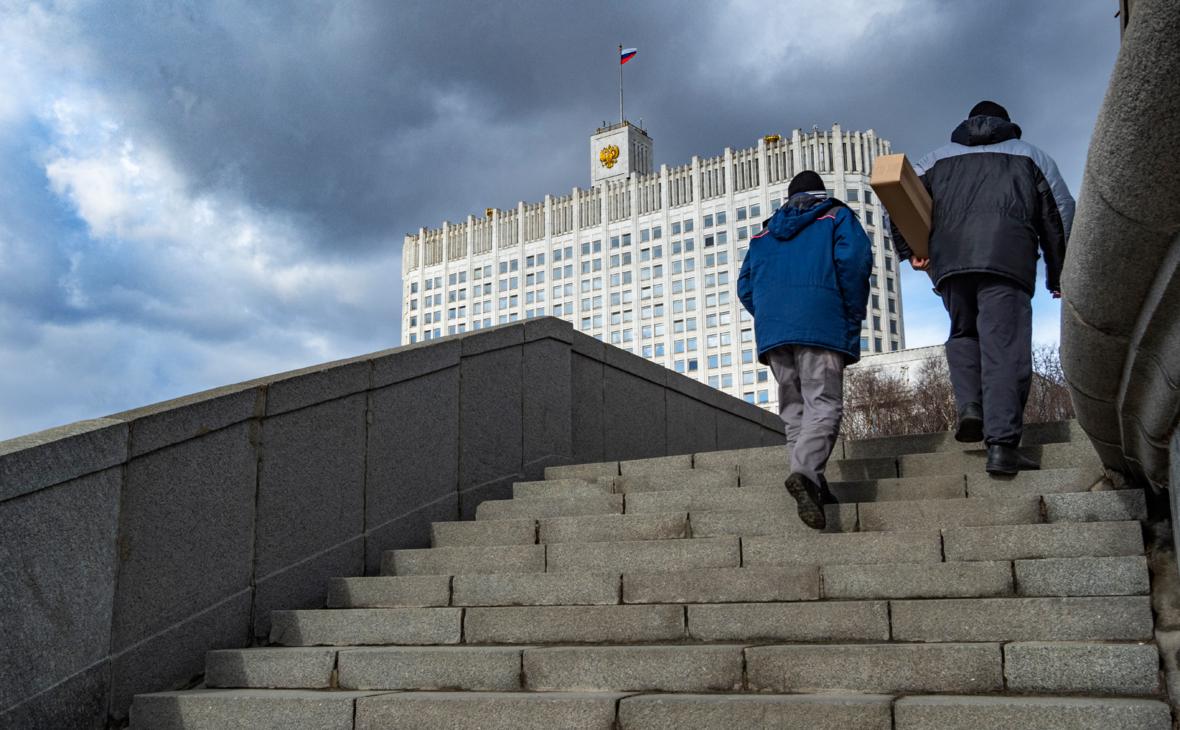 Вид на здание Правительства РФ