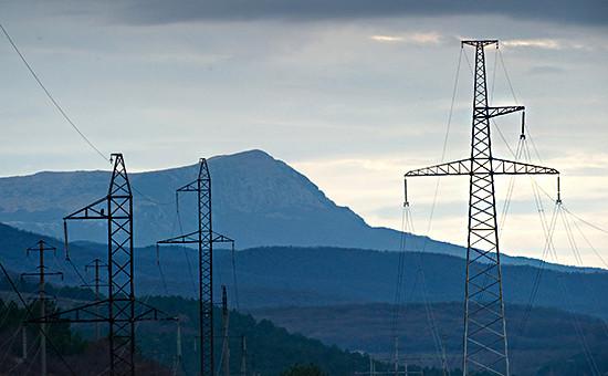 Линии электропередачи вКрыму