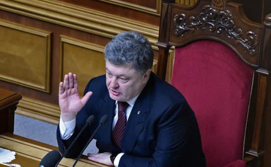 Президент УкраиныПетр Порошенко