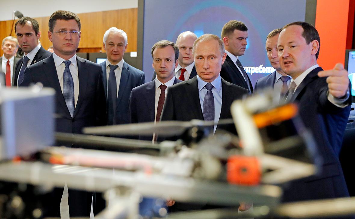 Владимир Путин в офисе компании «Россети»