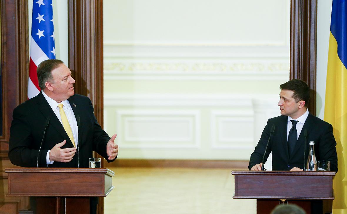 МайкПомпео и Владимир Зеленский