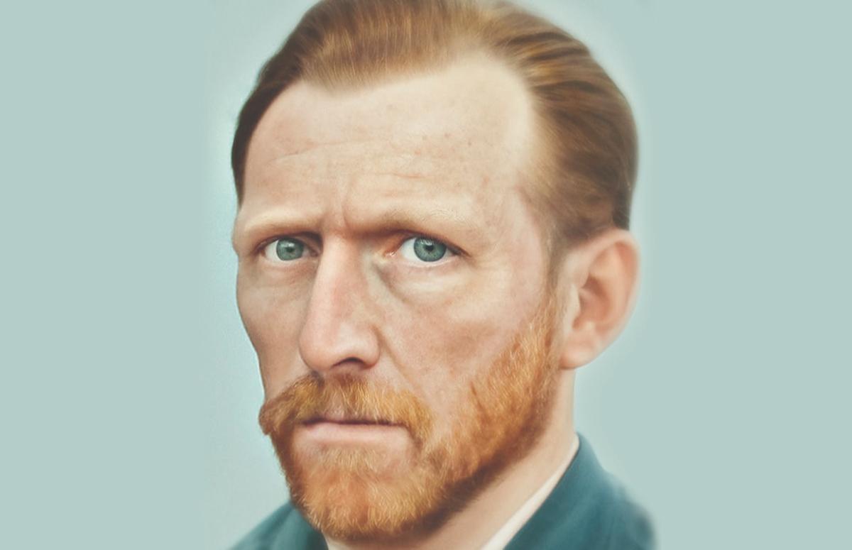 Автопортрет Ван Гога, воссозданный с помощью нейросети
