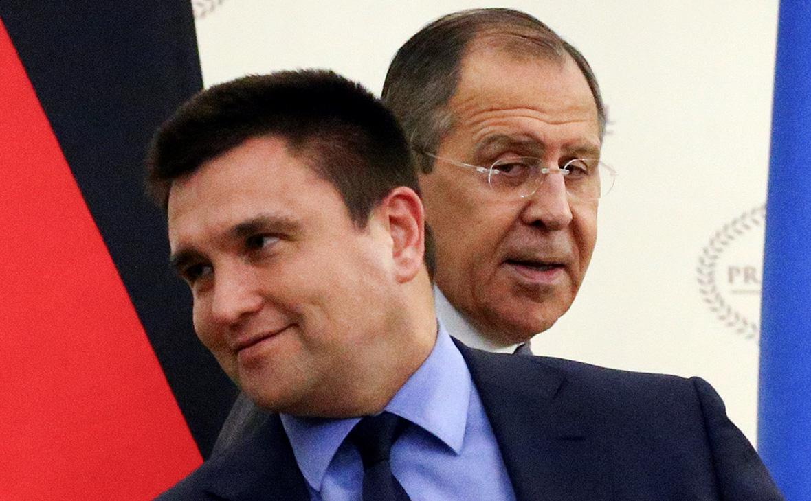 Павел Климкин(слева) и СергейЛавров