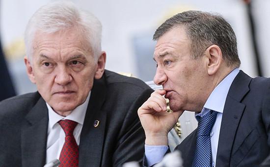 Бизнесмены Геннадий Тимченко и Аркадий Ротенберг (слева направо)