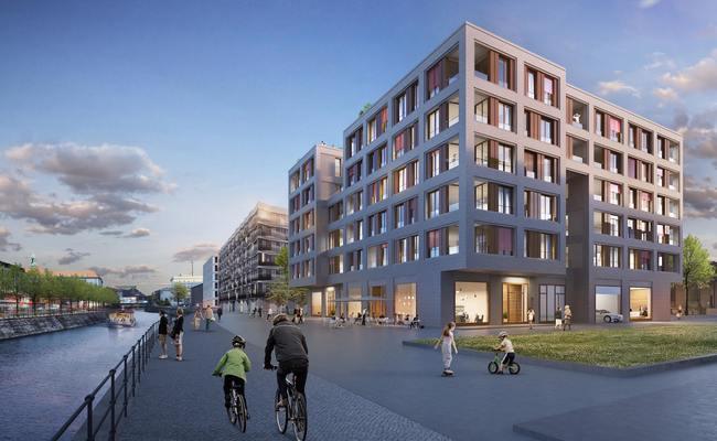 Визуализация жилого дома Pier One Berlin вБерлине