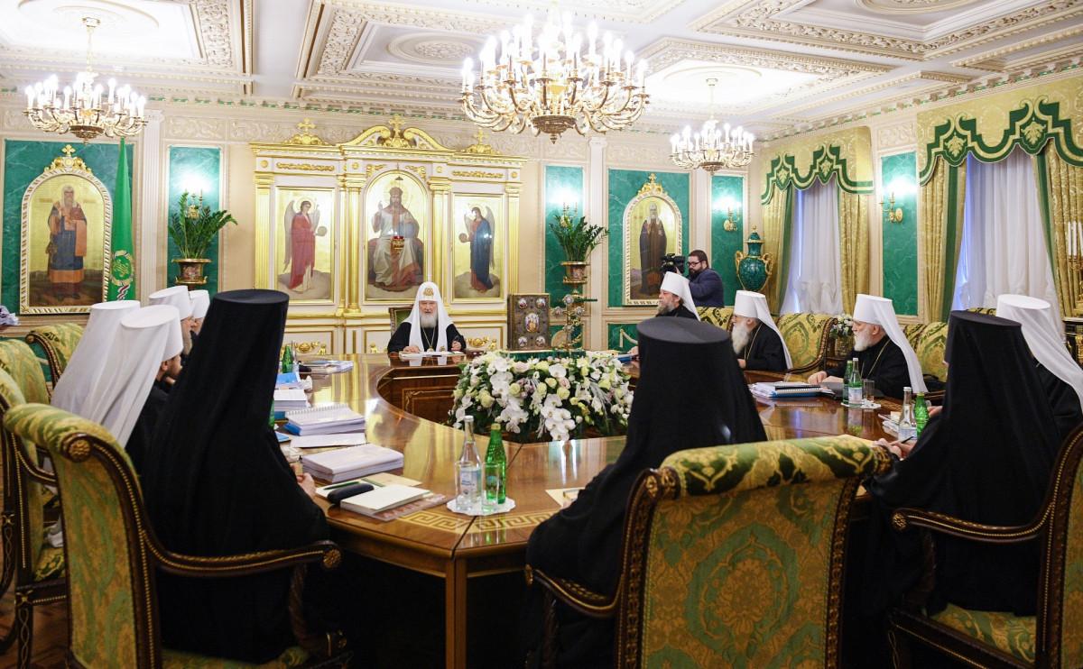 Заседание Священного Синода РПЦ