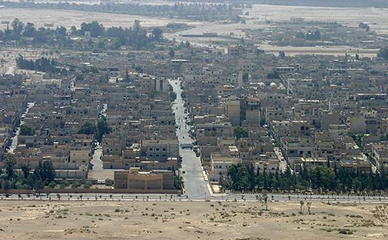Общий вид города Пальмира. Архивное фото