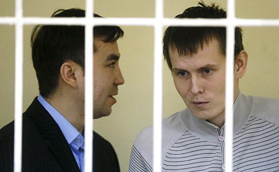 Евгений Ерофеев и Александр Александров (справа) насудебных слушаниях вКиеве