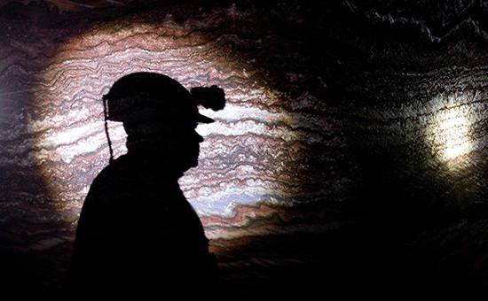 Рабочий в калийной шахте