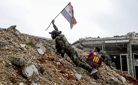 Сирийские солдаты в Алеппо