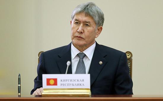 Президент Киргизии Алмазбек Атамбаев вовремя заседания Высшего Евразийского экономического совета