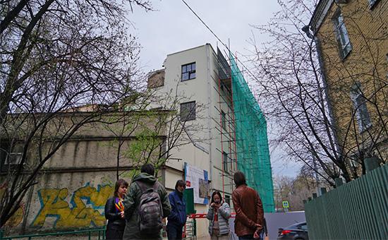 Здание Таганской АТС наПокровском бульваре