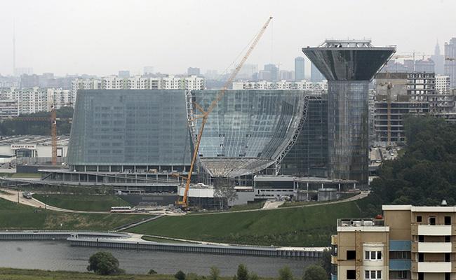 Вид на здание администрации Московской области в Красногорском районе
