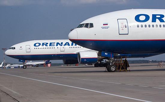 Boeing 777 «Оренбургских авиалиний», февраль 2015 года