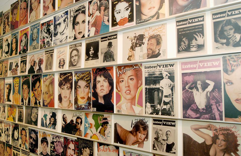 Cтена с обложками журнала в музее Энди Уорхола в Питсбурге