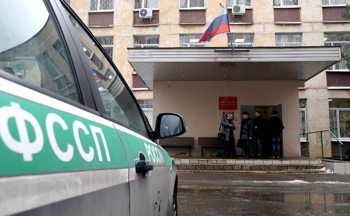 Вход в здание Чертановского суда, где бывший начальник одного из управлений ФСИН РФ Виктор Свиридов покончил с собой
