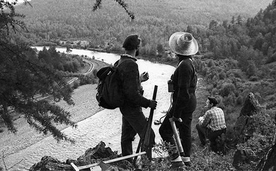 Геологи в районе месторождения Сухой Лог, 1988 год