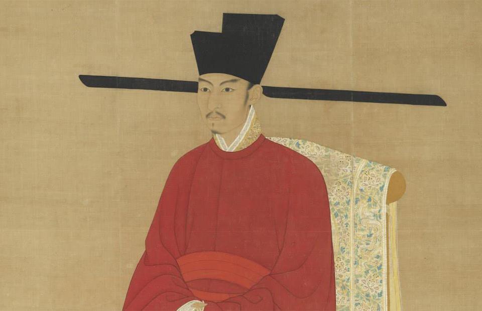 Император Чжэ-цзун сфутоу на голове