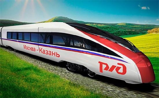 Новый поезд сможет развивать скорость до 360 км/час