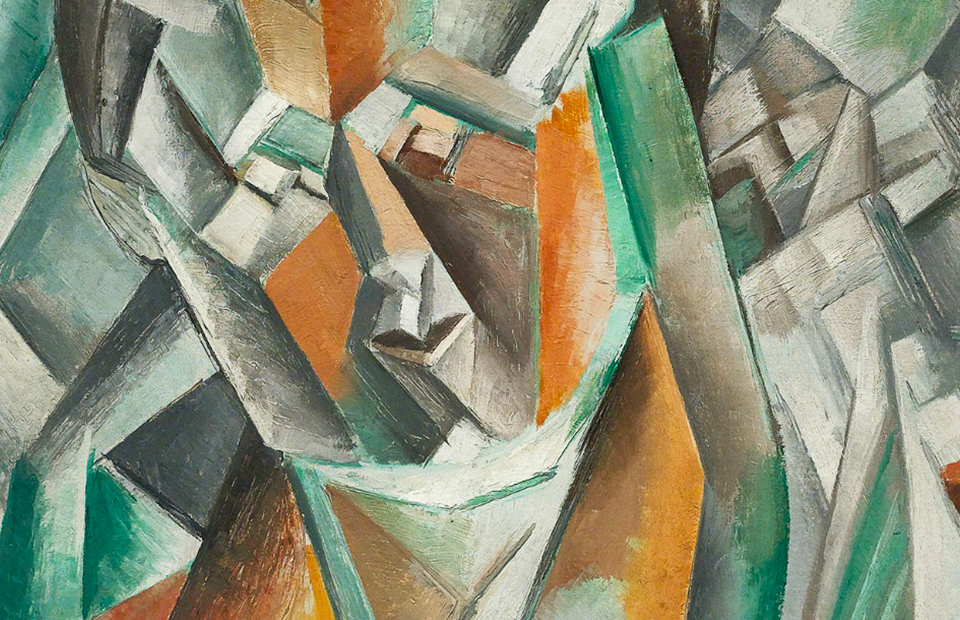 Фрагмент картины Пабло Пикассо «Сидящая женщина»