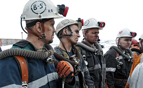 Горноспасатели у шахты «Северная» вВоркуте