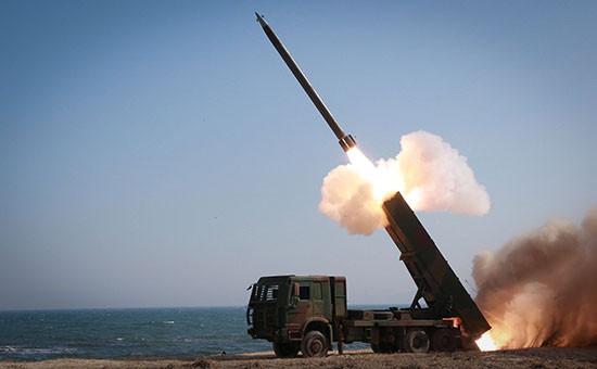 Учебный запуск ракеты армией КНДР, март 2016 года