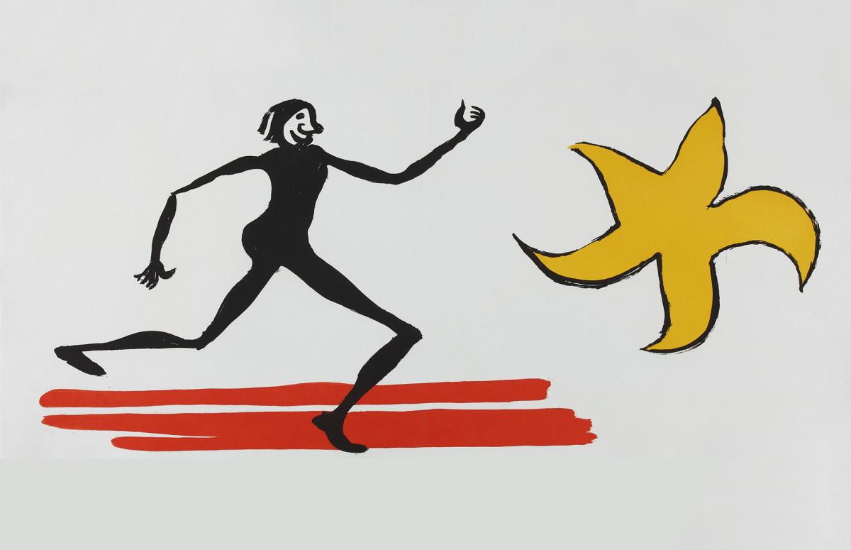 Фото: пресс-служба. Александр Колдер Цветной офорт. 1976 г. Иллюстрация к изданию Эрскин Колдуэлл. Похождения Алана Кента