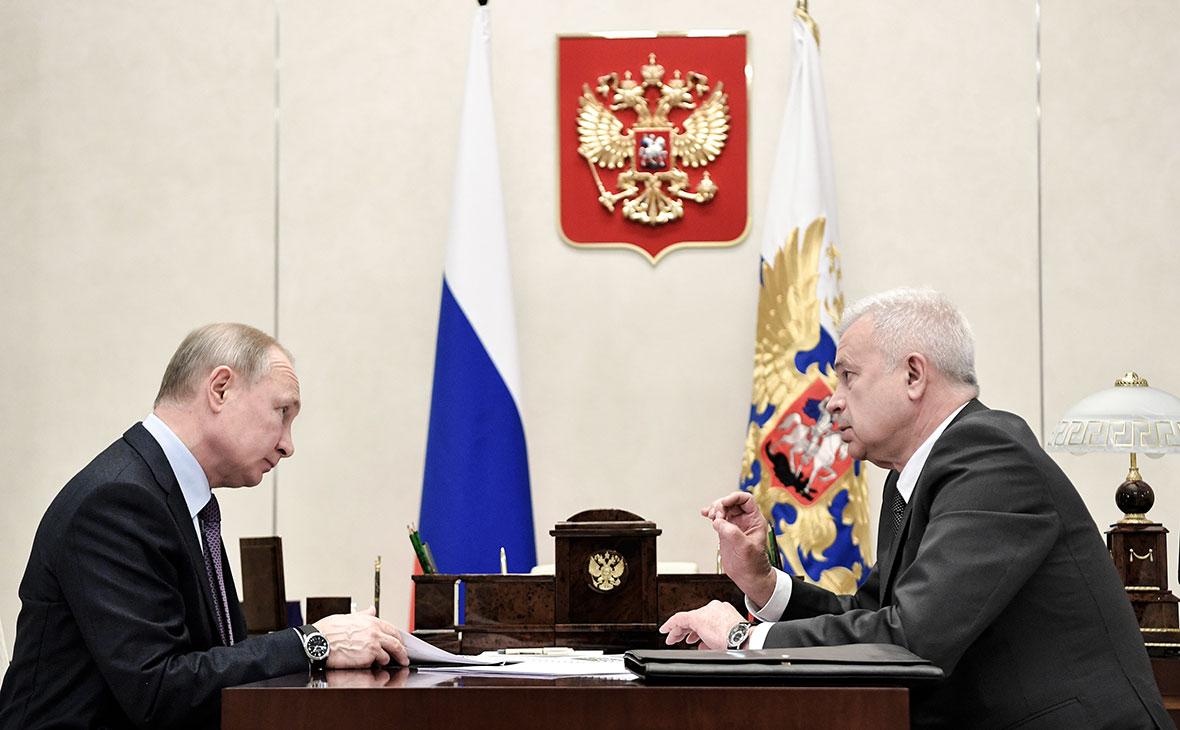 Владимир Путин и Вагит Алекперов