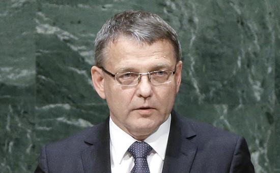 Глава МИД Чехии Лубомир Заоралек