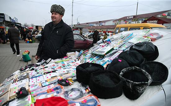 Городской рынок в Грозном