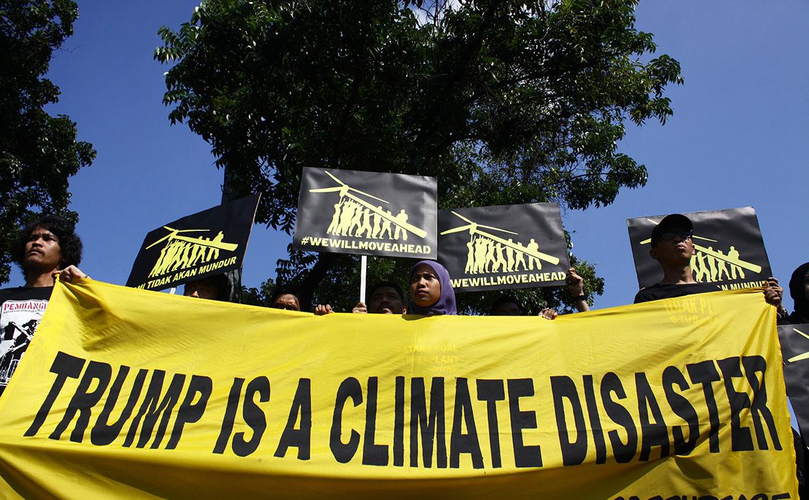 Акция протеста в Индонезии. Июнь 2017 года