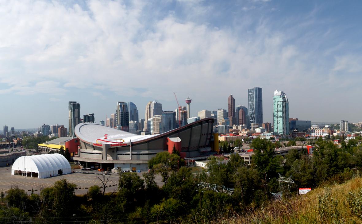 Город Калгари, центр канадской нефтяной промышленности