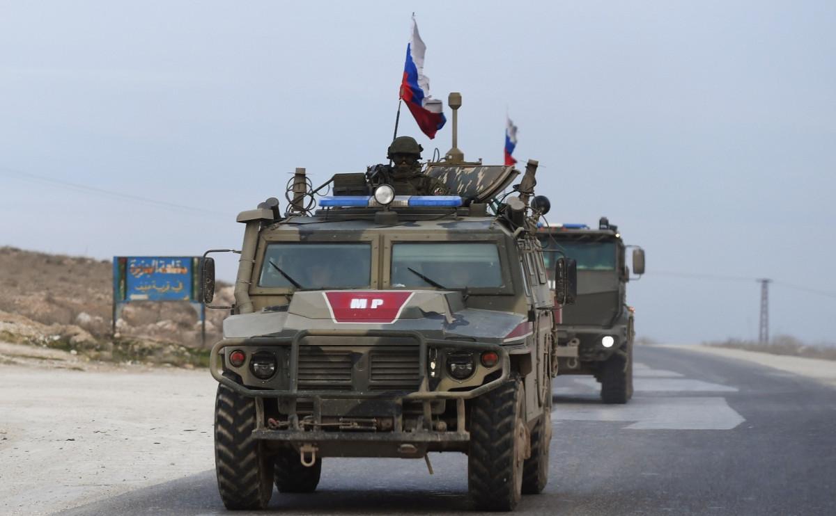 Патруль российской военной полиции в Сирии