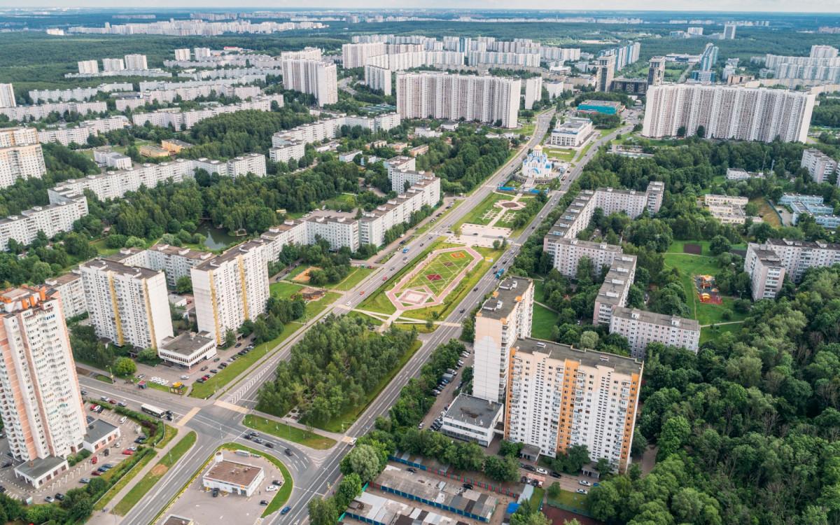 Жилая застройка в Юго-Западном административном округе Москвы