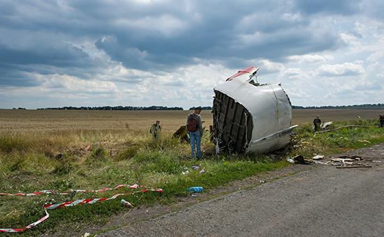 Место крушения самолета Boeing под Донецком. Архивное фото
