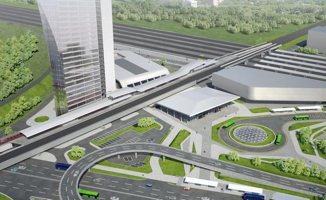 Визуализация ТПУ «Рязанская» и45-этажной офисной башни