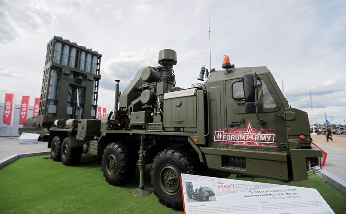 Комплект зенитной ракетной системы большой дальности С-350 «Витязь»