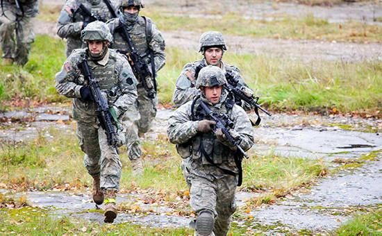 Американские солдаты научениях вЛатвии
