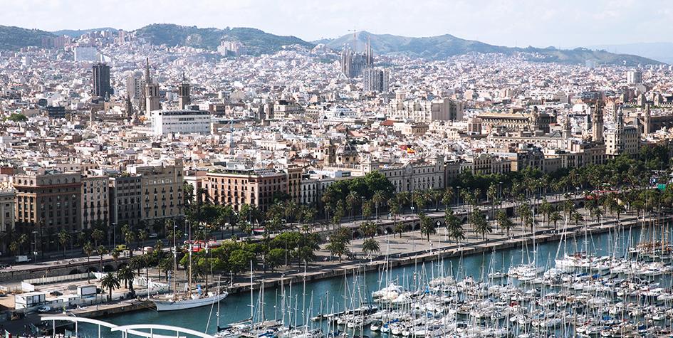 Испания. Барселона. Вид на порт и город